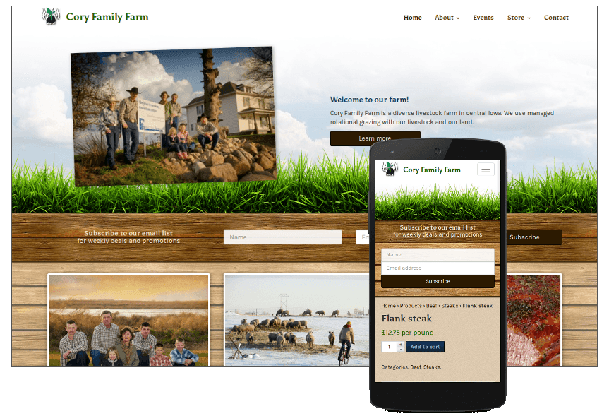 Cory Family Farm website