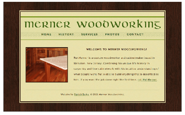 Merner Woodworking website